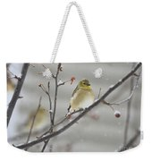 Golden With Snow Weekender Tote Bag