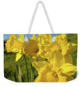 Golden Yellow Daffodil Flower Garden Art Prints Baslee Troutman Weekender Tote Bag