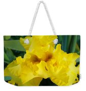 Golden Yellow Iris Flower Garden Irises Flora Art Prints Baslee Troutman Weekender Tote Bag