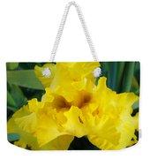 Golden Yellow Iris Flower Garden Irises Flora Art Prints Baslee Troutman Weekender Tote Bag