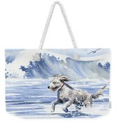 Goldendoodle At The Beach Weekender Tote Bag