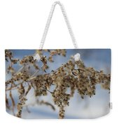 Goldenrod In The Snow Weekender Tote Bag