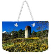 Goldenrod Surrounded Silo Weekender Tote Bag
