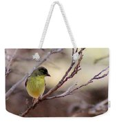 Goldfinch On Branch 032814a Weekender Tote Bag
