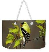 Goldfinch Suspended In Song Weekender Tote Bag