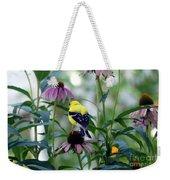 Goldfinch Visiting Coneflower Weekender Tote Bag
