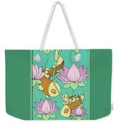 Goldfish And Lotus Weekender Tote Bag