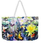 Goldfishes Happily Swimming  Weekender Tote Bag