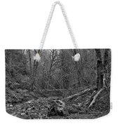 Goldstream Provincial Park Black And White Weekender Tote Bag