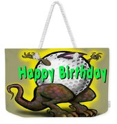 Golf A Saurus Birthday Weekender Tote Bag