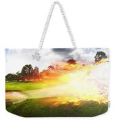 Golf Ball On Fire Weekender Tote Bag