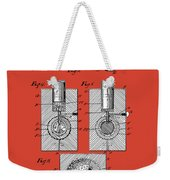 Golf Ball Patent Drawing Red Weekender Tote Bag