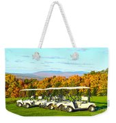Golf Carts On Vermont Golf Course Weekender Tote Bag