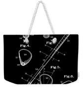 Golf Club Patent 1910 Black Weekender Tote Bag