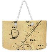 Golf Club Patent 1910 Sepia Weekender Tote Bag