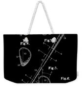 Golf Club Patent Drawing Black Weekender Tote Bag