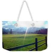Golf Course Sun Rays Weekender Tote Bag