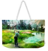 Golf In Crans Sur Sierre Switzerland 01 Weekender Tote Bag