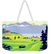 Golf, Lausanne, Switzerland, Travel Poster Weekender Tote Bag