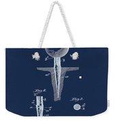 Golf Tee Patent 1899 Blue Weekender Tote Bag