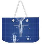 Golf Tee Patent 1899 Blueprint Weekender Tote Bag