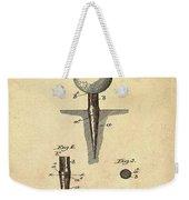 Golf Tee Patent 1899 Sepia Weekender Tote Bag
