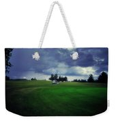 Golfing Before The Rain Golf Cart 01 Weekender Tote Bag