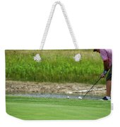 Golfing Chipping The Ball In Flight Weekender Tote Bag