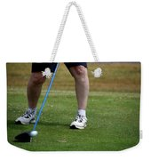 Golfing Driving The Ball In Flight Weekender Tote Bag