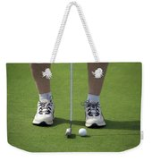 Golfing Lining Up The Putt Weekender Tote Bag