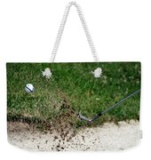 Golfing Sand Trap The Ball In Flight 01 Weekender Tote Bag