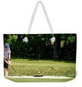 Golfing Sand Trap The Ball In Flight 02 Weekender Tote Bag