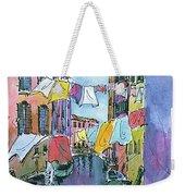 Gondola In A Venetian Canal Weekender Tote Bag