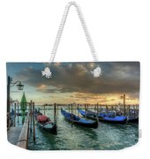 Gondolas Parked For The Evening Weekender Tote Bag