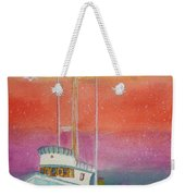 Gone Fishing At Midnight  Weekender Tote Bag