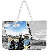 Gone Fishing Father's Day Card Weekender Tote Bag