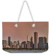 Good Morning Chicago Panorama Weekender Tote Bag