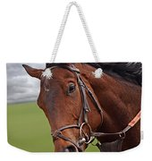 Good Morning - Racehorse On The Gallops Weekender Tote Bag
