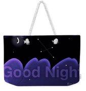 Good Night Weekender Tote Bag