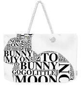 Goodnight My Bunny Weekender Tote Bag