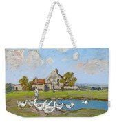 Goose Girl At Sablons Weekender Tote Bag