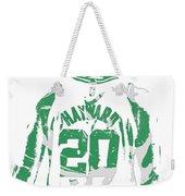 Gordon Hayward Boston Celtics Pixel Art T Shirt 5 Weekender Tote Bag