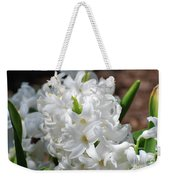 Goregeous White Flowering Hyacinth Blossom Weekender Tote Bag