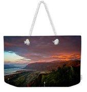 Gorge Sunset Weekender Tote Bag