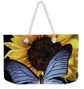 Gorgeous Blue Butterfly Weekender Tote Bag