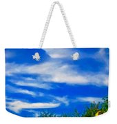 Gorgeous Blue Sky With Clouds Weekender Tote Bag