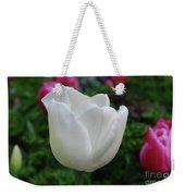 Gorgeous Flowering White Tulip Flower Blossom Weekender Tote Bag