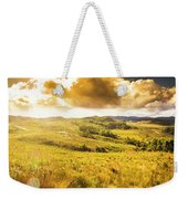 Gorgeous Golden Sunset Field  Weekender Tote Bag