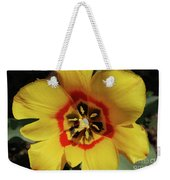 Gorgeous Look At The Center Of A Yellow Tulip Weekender Tote Bag