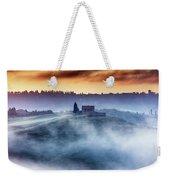 Gorgeous Tuscany Landcape At Sunrise Weekender Tote Bag